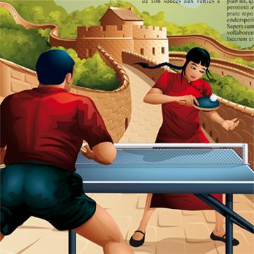 Illustration de personnages en situation de jeu