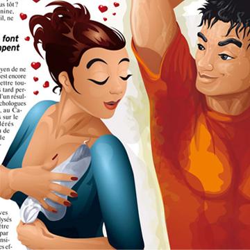 Illustration de personnages en couple